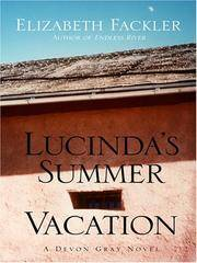Lucinda's Summer Vacation (Five Star First Edition Mystery) (Five Star Mystery Series)