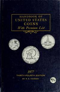 Handbook Of United States Coins With Premium List