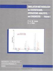 Simulation Methodology for Statisticians, Operations Analysts, and Engineers (Wadsworth...