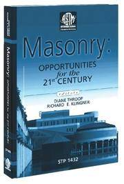 image of Masonry : Opportunities for the 21st Century