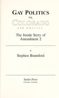 Gay Politics Vs Colorado and America