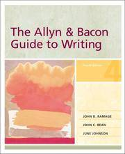 The Allyn & Bacon Guide to Writing, 4th Edition