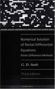 Numerical Solution of Partial Differential Equations Finite Difference Methods (Oxford Applied...