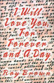 I Will Love You, for Forever and a Day [Large Print] [Paperback]  by Brown, Roy