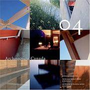 Architecture Canada 2004 (Governor General's Medals in Architecture)