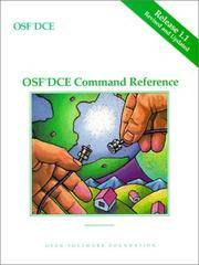 OSF DCE Command Reference Release 1.1 (MATLAB Curriculum Series)