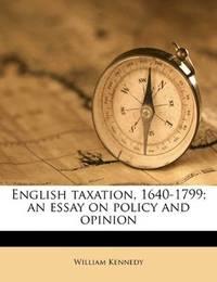 English Taxation 1640-1799