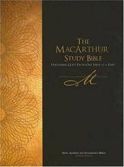 NASB, MacArthur Study Bible, Bonded Leather, Black