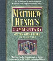 Matthew Henry's Commentary on the Whole Bible; 6 Volume Set