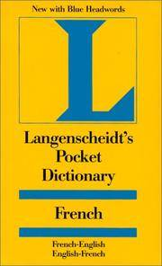 Langenscheidt's Pocket French Dictionary: French / English-English / French