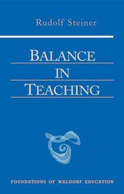 image of Balance in Teaching: Stuttgart September 15-22, 1920 and October 15-16, 1923 (Foundations of Waldorf Education)