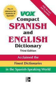 Vox Compact Spanish and English Dictionary, 3e