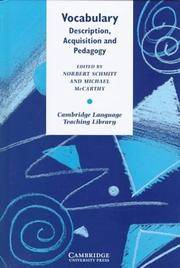 Vocabulary: Description, Acquisition and Pedagogy (Cambridge Language Teach ing Library)