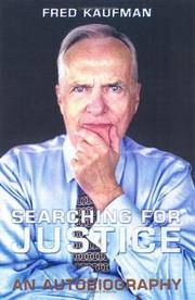Searching for Justice An Autobiography