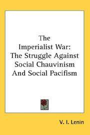 The Imperialist War