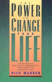 The Power To Change Your Life by Rick Warren - Paperback - from Discover Books (SKU: 3227895184)