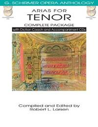 Arias for Tenor - Complete Package: with Diction Coach and Accompaniment CDs by Robert L. Larsen (Editor) - Paperback - Pap/Com - 2013-04-01 - from Ergodebooks (SKU: SONG1480328510)