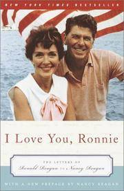 image of I Love You, Ronnie: The Letters of Ronald Reagan to Nancy Reagan