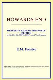 image of Howards End (Webster's Korean Thesaurus Edition)