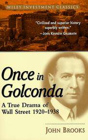 image of Once in Golconda: A True Drama of Wall Street 1920-1938