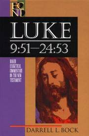 image of Luke 9:51-24:53 (Baker Exegetical Commentary on the New Testament)