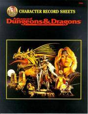 CHARACTER RECORD SHEETS (Advanced Dungeons and Dragons 2nd Edition Accessory)