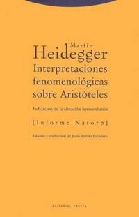 image of Interpretaciones Fenomenologicas Sobre Aristoteles (Filosofia) (Spanish Edition)