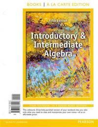 image of Introductory and Intermediate Algebra, MyLab|Bundle, 5th edition.