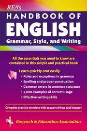 REA's Handbook of English Grammar, Style, and Writing (Language Learning)