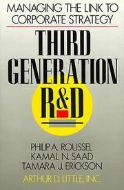 Kamal N. Saad,Philip A. Roussel,Tamara J. Erickson (Hardcover, 1991)
