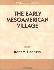 The Early Mesoamerican Village. [paperback].