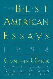 The Best American Essays, 1998