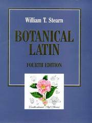 BOTANICAL LATIN History Grammar Syntax Terminology and Vocabulary.