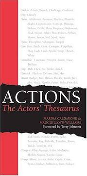Actions The Actors Thesaurus