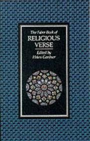 The Faber Book Of Religious Verse