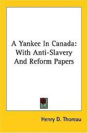 image of A Yankee In Canada: With Anti-Slavery And Reform Papers