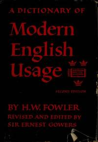 image of A Dictionary of Modern English Usage