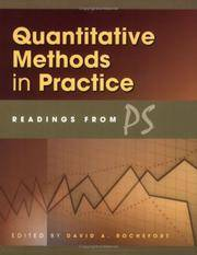 Quantitative Methods in Practice: Readings from PS Rochefort, David A.