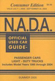 N.A.D.A. Official Used Car Guide: Consumer Edition : Summer 2005