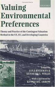Valuing  Environmental Preferences : Theory and Practice in the USA, Europe and Developing Countries
