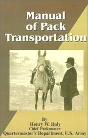 Manual Of Pack Transportation