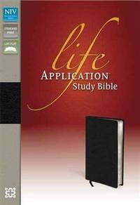 NIV, Life Application Study Bible, Second Edition, Genuine Leather, Black, Index