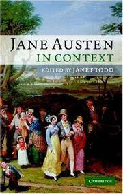 JANE AUSTEN IN CONTEXT (PB 2005)