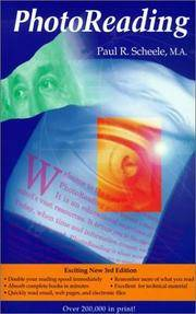 PHOTOREADING: Whole Mind System by C. Paul R. Scheele - Paperback - 1999 - from Sacred Science Institute and Biblio.com