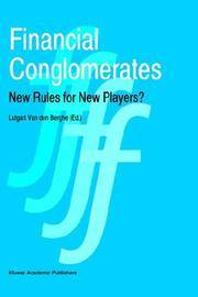 Financial conglomerates: new rules for new players?