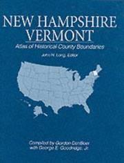 Atlas of Historical County Boundaries: New Hampshire, Vermont