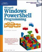 Microsoft Windows Powershell Programming For the Absolute Beginner