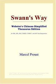 image of Swann's Way (Webster's Chinese-Simplified Thesaurus Edition) (Chinese Edition)