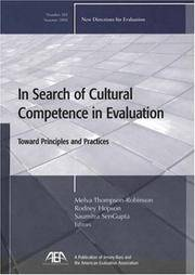 In Search of Cultural Competence in Evaluation: Toward Principles and Practices, No. 102