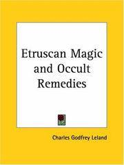 Etruscan Magic  Occult Remedies